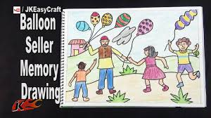 balloon seller memory drawing how to draw project for