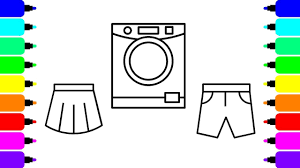 Washing Machine Coloring Page - how to draw washing machine preschool coloring pages for kids