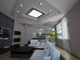 Modern Living Room Ceiling Lights Recessed Spotlights As Ceiling - Ceiling design for living room