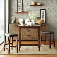 Dining Room Bar Table by Amerihome Retro Style 37 In Adjustable Height Bar Table Set In