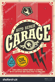 classic garage retro poster design template stock vector 720116845 classic garage retro poster design template car service and repair vintage sign vector illustration