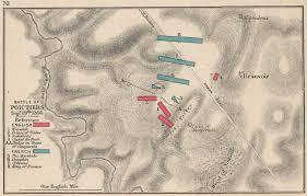 map of poitiers battle of poitiers sept 19 1356 v 100 years war