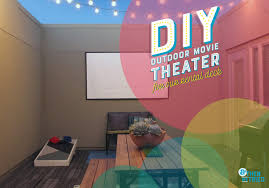 How To Make A Backyard Movie Theater One Room Challenge Week 5 Diy Outdoor Movie Theater And Then We