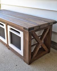 Diy Storage Bench Diy Storage Bench With Crates Bench Decoration