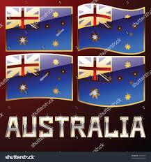 Australia Flags Set Australia Flags Stock Vector 30358033 Shutterstock