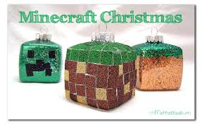 easy diy minecraft ornaments