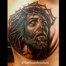 ink jesus on chest