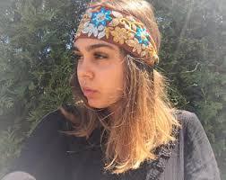 bohemian headbands bohemian headband etsy