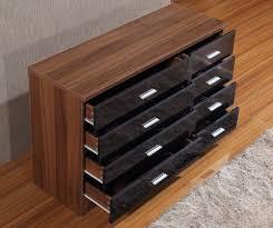 walnut and cream gloss bedroom furniture eo furniture