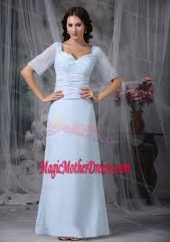 light blue square appliques mother bride gown in new mexico