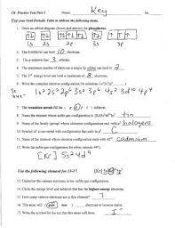 periodic table worksheet answer key periodic table basics worksheet answers portray pretty answer key