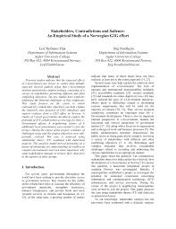 Seeking G2g Stakeholders Contradictions And Salience An Empirical Study Of A