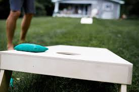 non painted boards diy corn hole boards corn toss