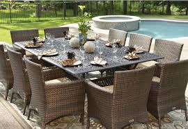 Metal Outdoor Dining Chairs Patio Amusing All Weather Wicker Outdoor Furniture All Weather