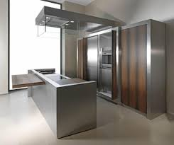 Decorating Your Home Design Ideas With Amazing Ellegant Stainless - Stainless steel kitchen cabinets ikea