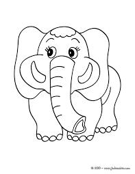Coloriages coloriage dun éléphant  frhellokidscom