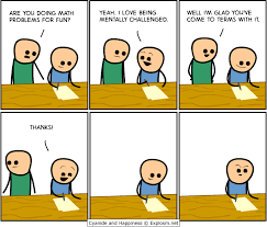 Meme Math Problem - i love being mentally challenged with math problems by cyanide and