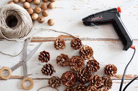 pinecone garland 4 easy fall garlands a beautiful mess