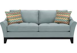 Rooms To Go Sofa Bed Cindy Crawford Home Newport Cove Hydra Sofa Sofas Blue
