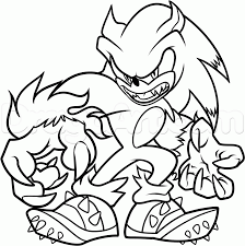 super sonic coloring pages sonic the werehog coloring pages kids coloring pictures