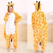 giraffe style one pajama onesies for animal