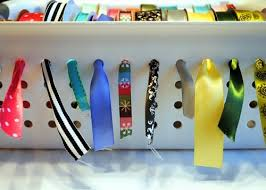 diy cheap ribbon organizer shelterness