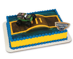 monster jam truck party supplies monster jam full throttle fun decoset cake cakes com