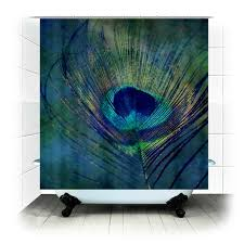 Home Decor Peacock Plume Peacock Feather Fabric Shower Curtain By Rdelean On Etsy