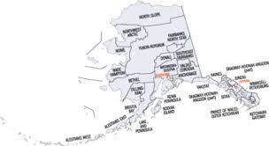 alaska major cities map outline of alaska