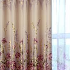 Blackout Purple Curtains Luxury Living Room Curtains Purple Hooks Top Drapes Golden Printed
