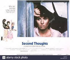 second thoughts us lobbycard lucie arnaz 1983 stock photo