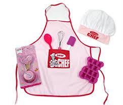 ustensiles cuisine enfants kit de pâtisserie enfants junior chef avec tablier toque