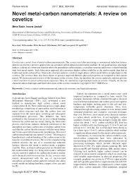 novel metal carbon nanomaterials a review on covetics pdf