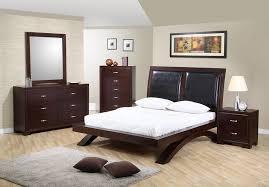 bedroom queen sleigh bed with tufted leather headboard queen