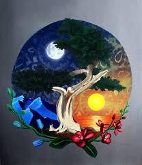 jared aubel yin and yang painting celebrating the circle