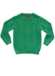 kid s cotton cable knit sweater green blarney