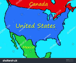 Map Of The United State Cartoon Map United States Stock Vector 54705724 Shutterstock
