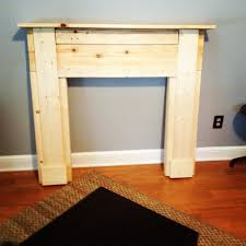 building a faux fireplace mantel still needs paint diy