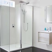 1400 Shower Door Vision 1400 X 800 10mm Hinged Walk In Shower Enclosure Inc Tray