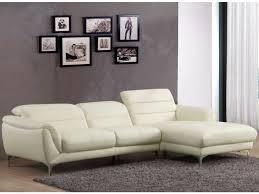 vente unique canap d angle canapé d angle en cuir beluga coloris noir ou blanc