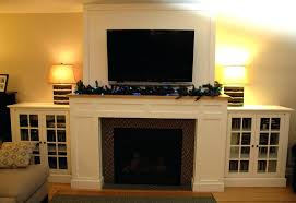 fireplace side cabinets craftsman fireplace with built in a cabinets fireplace mantel with side cabinets