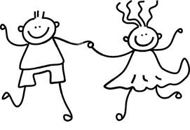 black and white kids holding hands free download clip art free