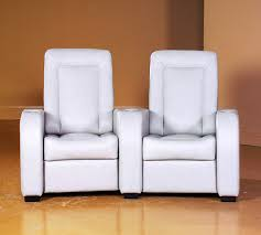 jaymar 59219 modern home theater seat white leather recliner