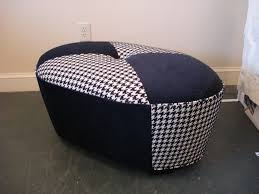 furniture fabric ottoman houndstooth ottoman tufted leather