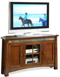 Tv Console Riverside Furniture Craftsman Home 3 Door Corner Tv Console With