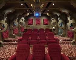 admit one home theater 11 amazing geek home theaters homes and hues