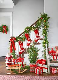 Banister Garland Ideas Model Staircase Singular Christmas Staircase Picture Concept Top