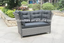 Grey Rattan Outdoor Furniture by French Grey Rattan Outdoor Loveseat High Back Sofa Buy High Back