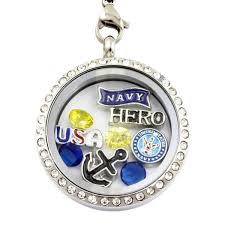 charm locket necklace images Navy hero charm locket necklace jpg