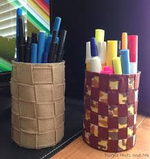 how to make pen and pencil holders from recycled tin cans crafts